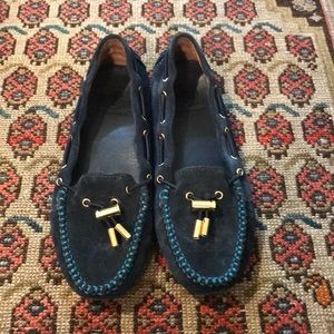 Tory Burch suede moccasins